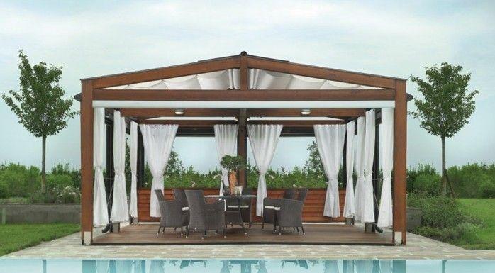Amazing Super Schönes Modell Pergola Aus Holz Neben Einem Luxus Pool