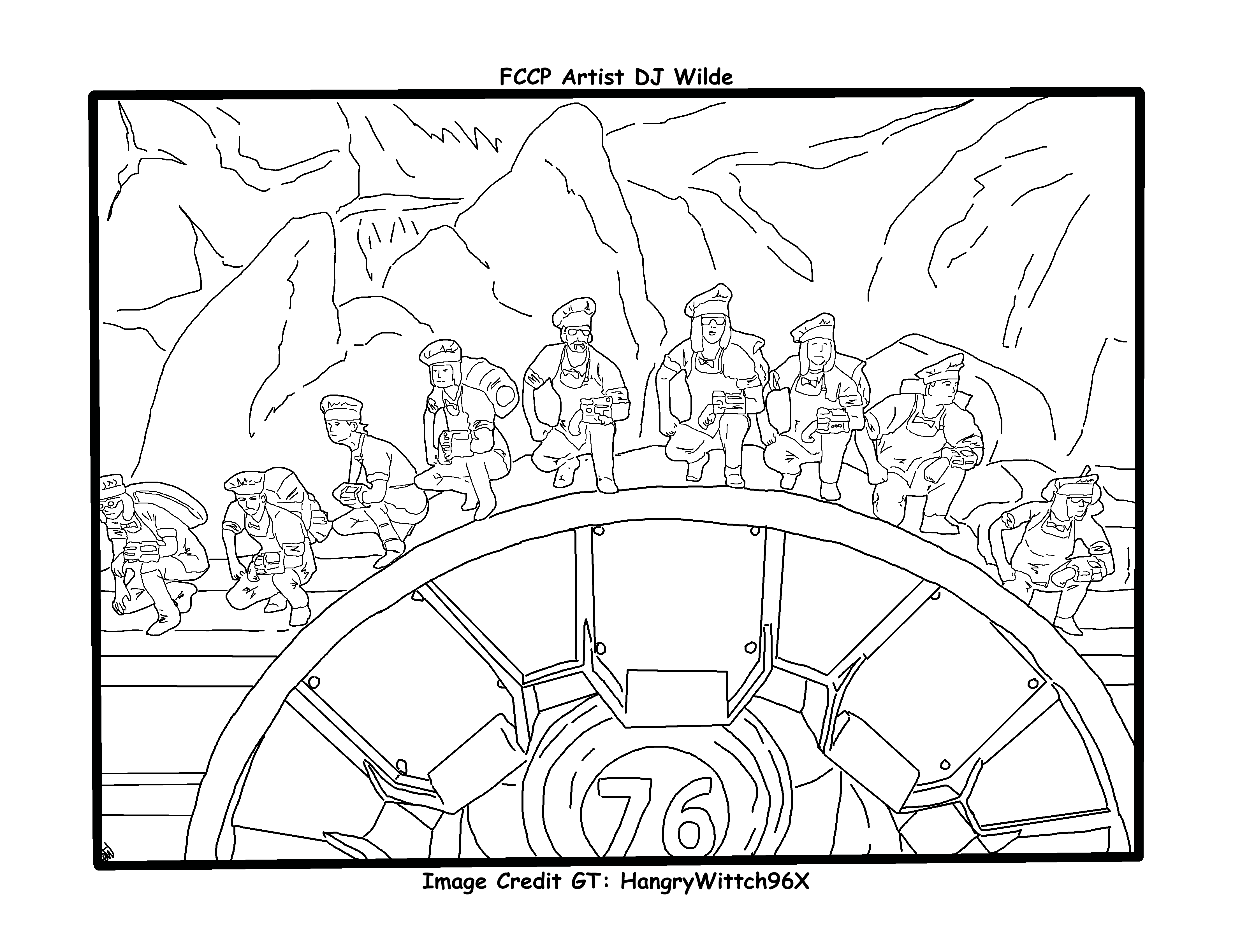 Fallout 76 Lot Of Chefs Coloring Page Coloring Pages Color Symbols [ 3400 x 4400 Pixel ]