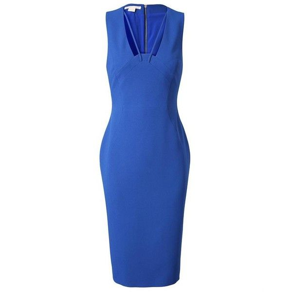 ANTONIO BERARDI Cut-Out Crepe Dress ($1,690) ❤ liked on Polyvore