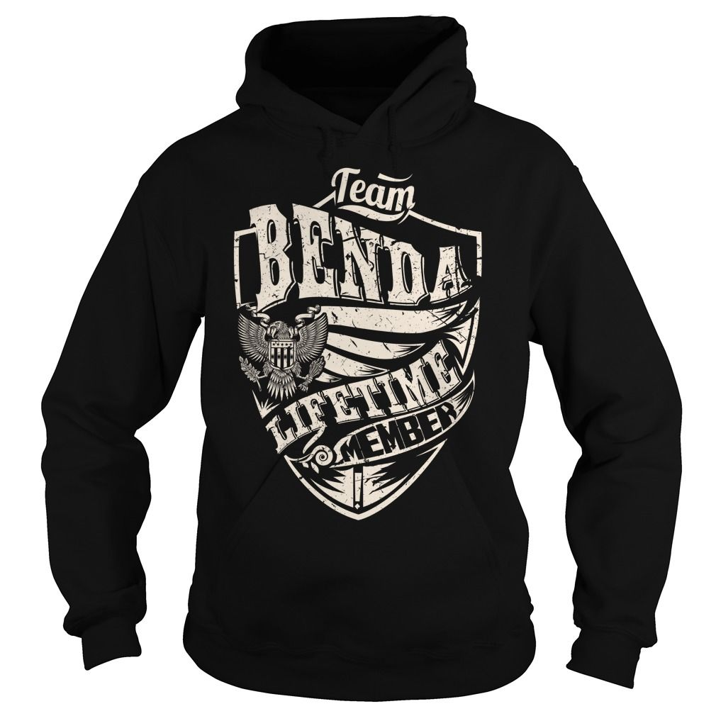 Last Name, Surname Tshirts - Team BENDA Lifetime Member Eagle