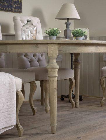 Brunswick Extending Weathered Oak Dining Table Dining Table Oak