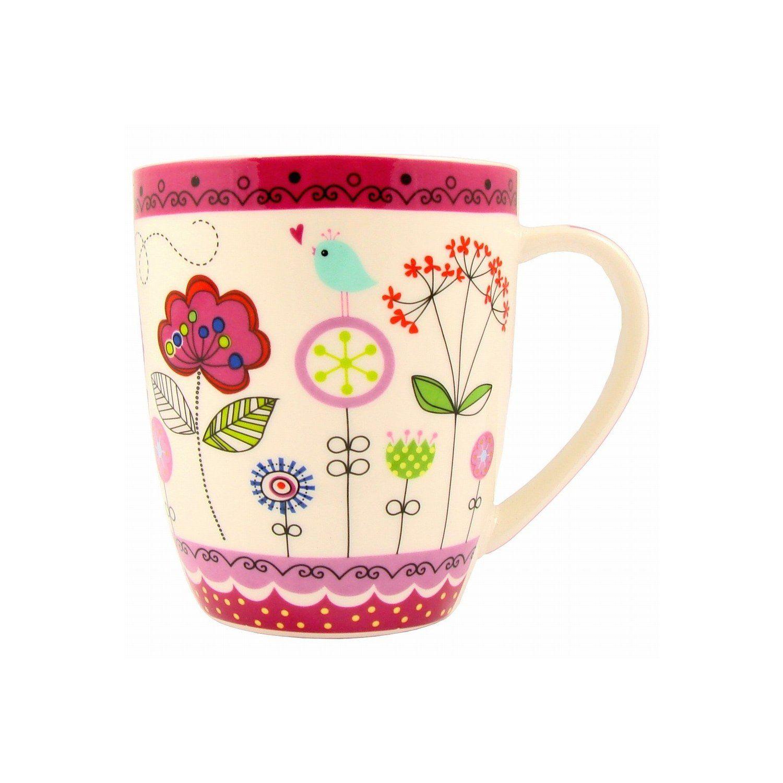 3er Set Kaffee Becher Geschirr Porzallen Tasse Lovely Day//Sunshine//Coffee