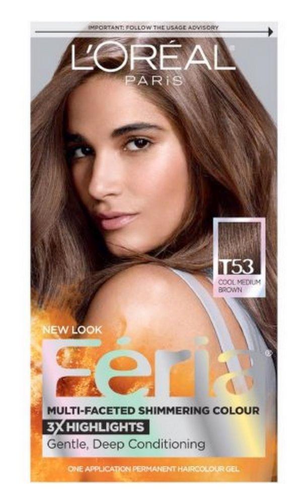Loreal Paris Feria Multi Faceted Shimmering Hair Color T53 Moonlit