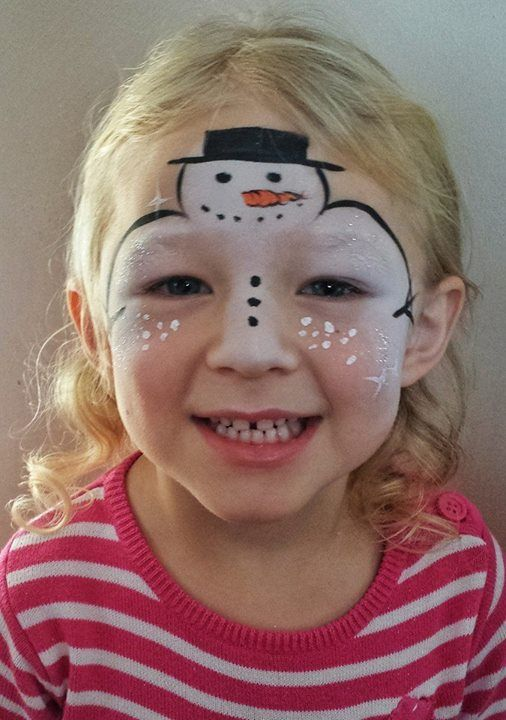 Christmas Facepainting Snowman Guess Ok For Boy Or Girl Christmas Face Painting Face Painting Easy Face Painting