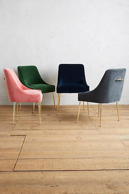 The Most Perfect Velvet Chairs In Rose Pink Kelly Green