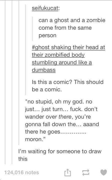 ghost/zombie comic