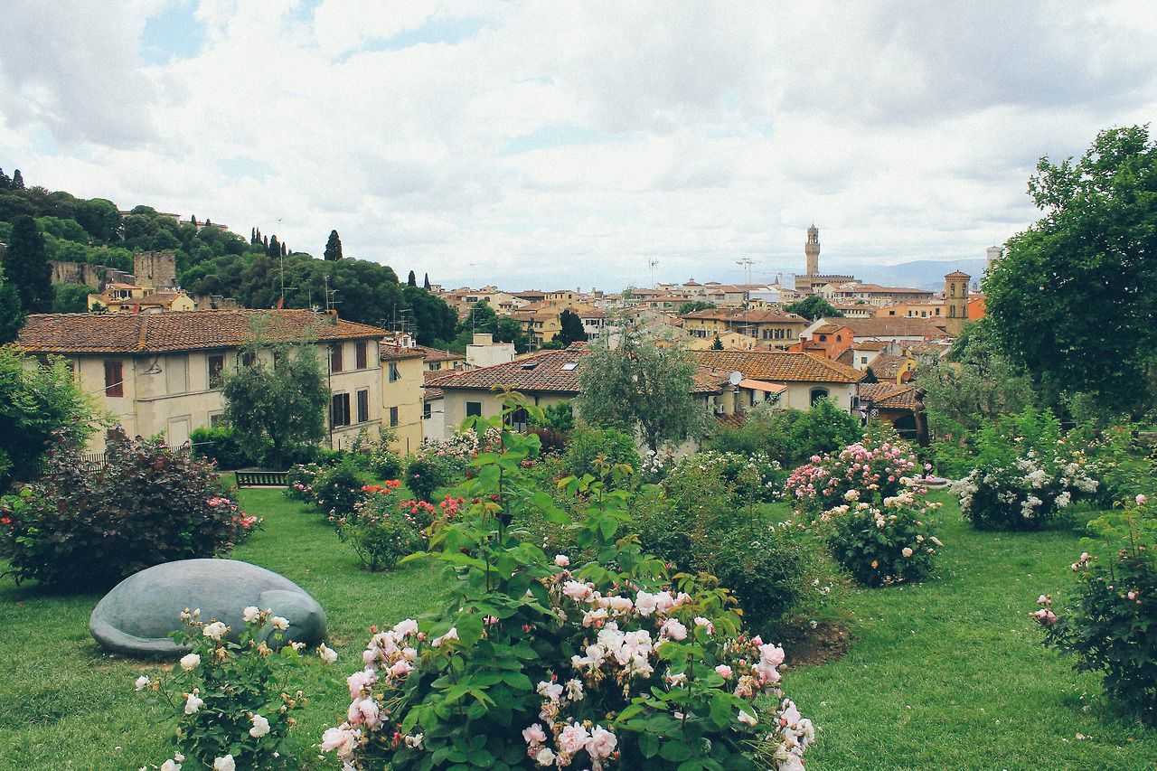 The Rose Garden Florence Italy Beautiful Gardens Colorful