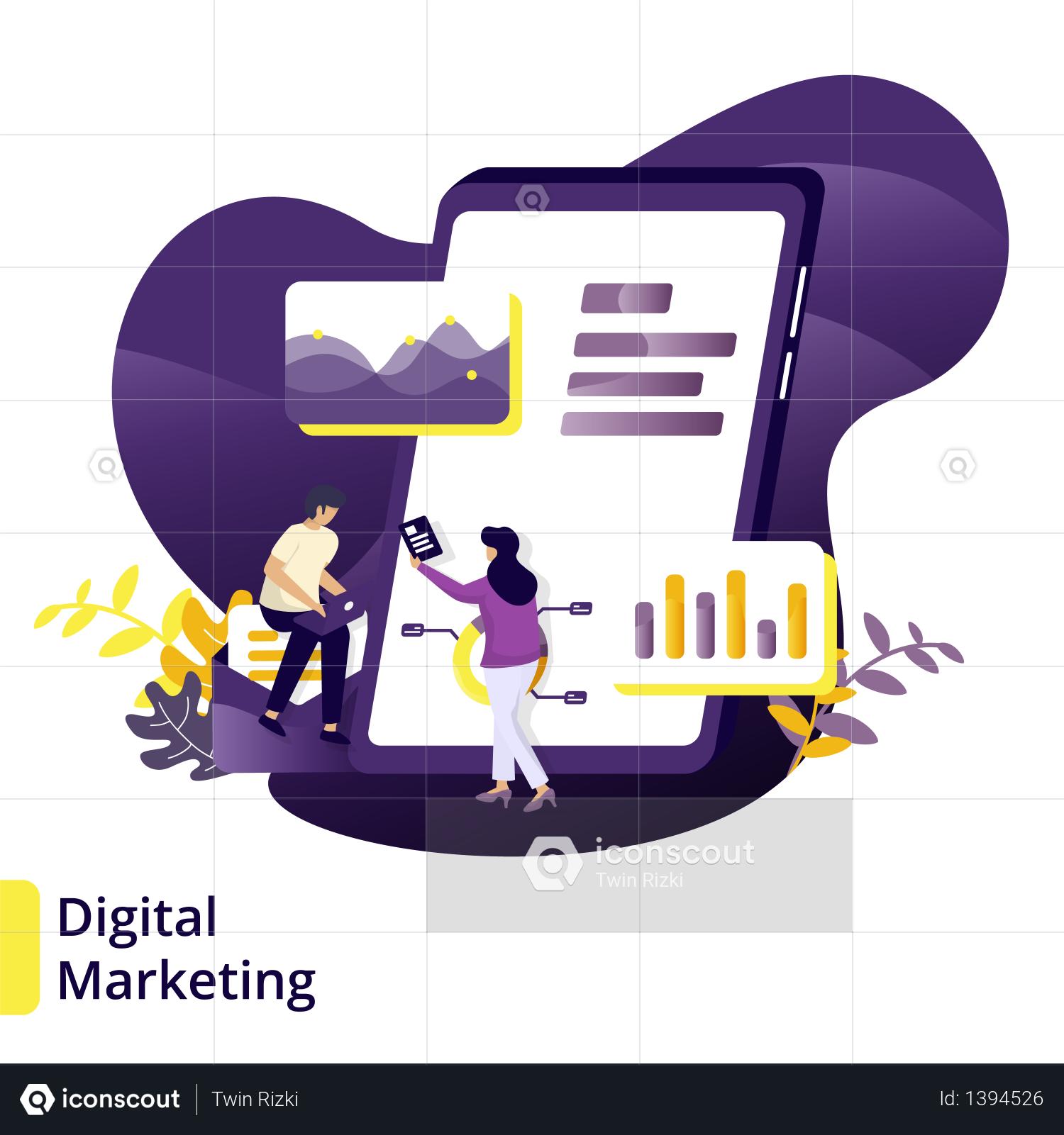 Premium Illustration Digital Marketing Illustration Download In Png Vector Format Digital Marketing Business Illustration Illustration