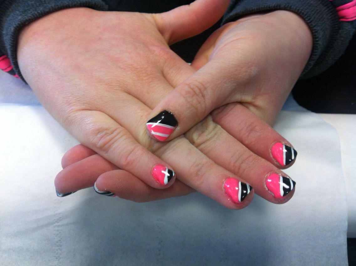 Pink Black And Silver Nails Done In Salon 085 2052600 For Apt Jennifersalonclonmel