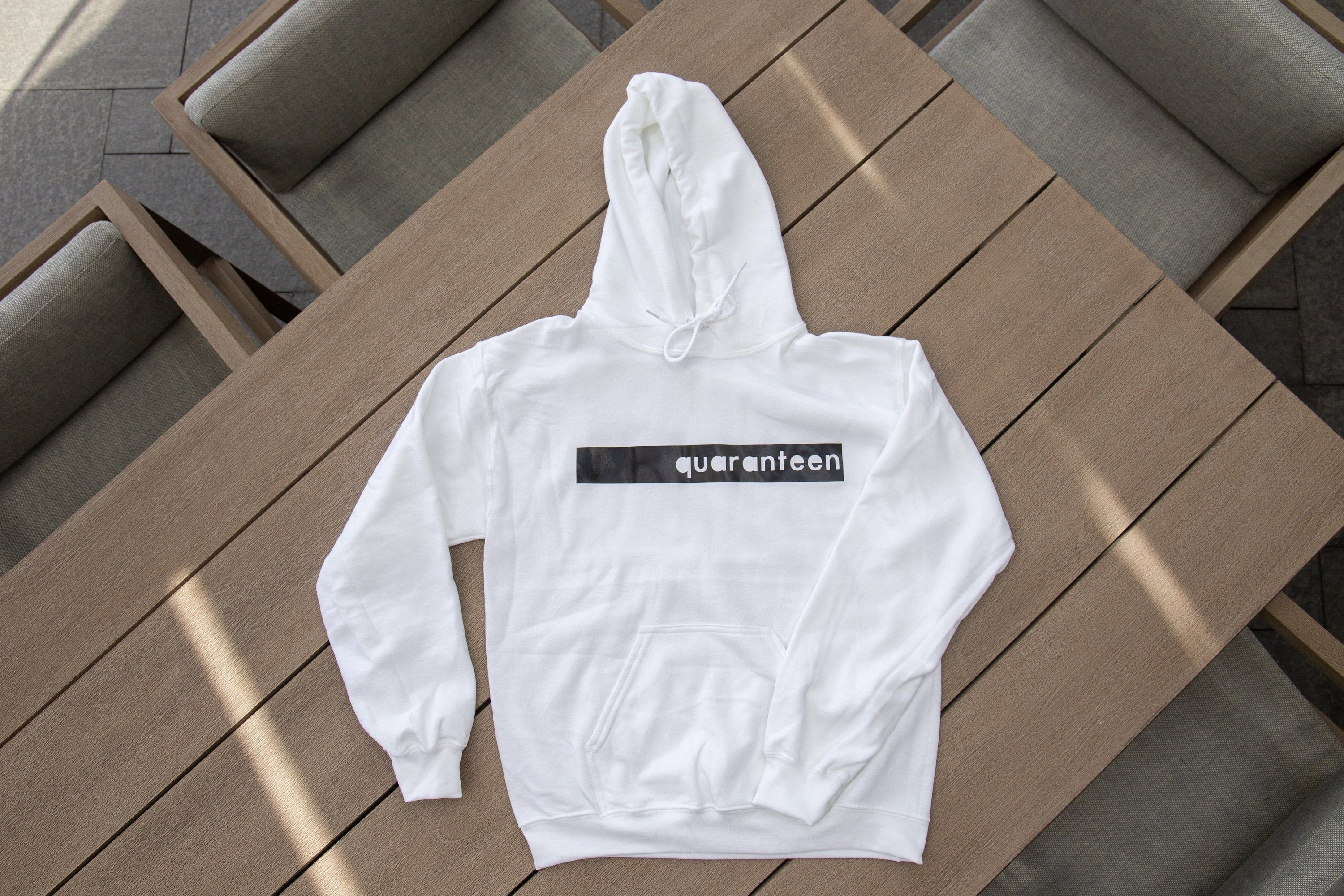 Quaranteen Inverse Printed Graphic Minimalist Hoodie 10 Proceeds Donated To The World Health Organization In 2020 Graphic Minimalist Graphic Prints Prints