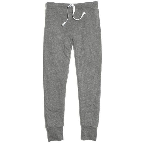 MADEWELL Rxmance® 311 Lounge Pant ($100) ❤ liked on Polyvore featuring activewear, activewear pants, pants, bottoms, pajamas, sweats, hthr grey et madewell