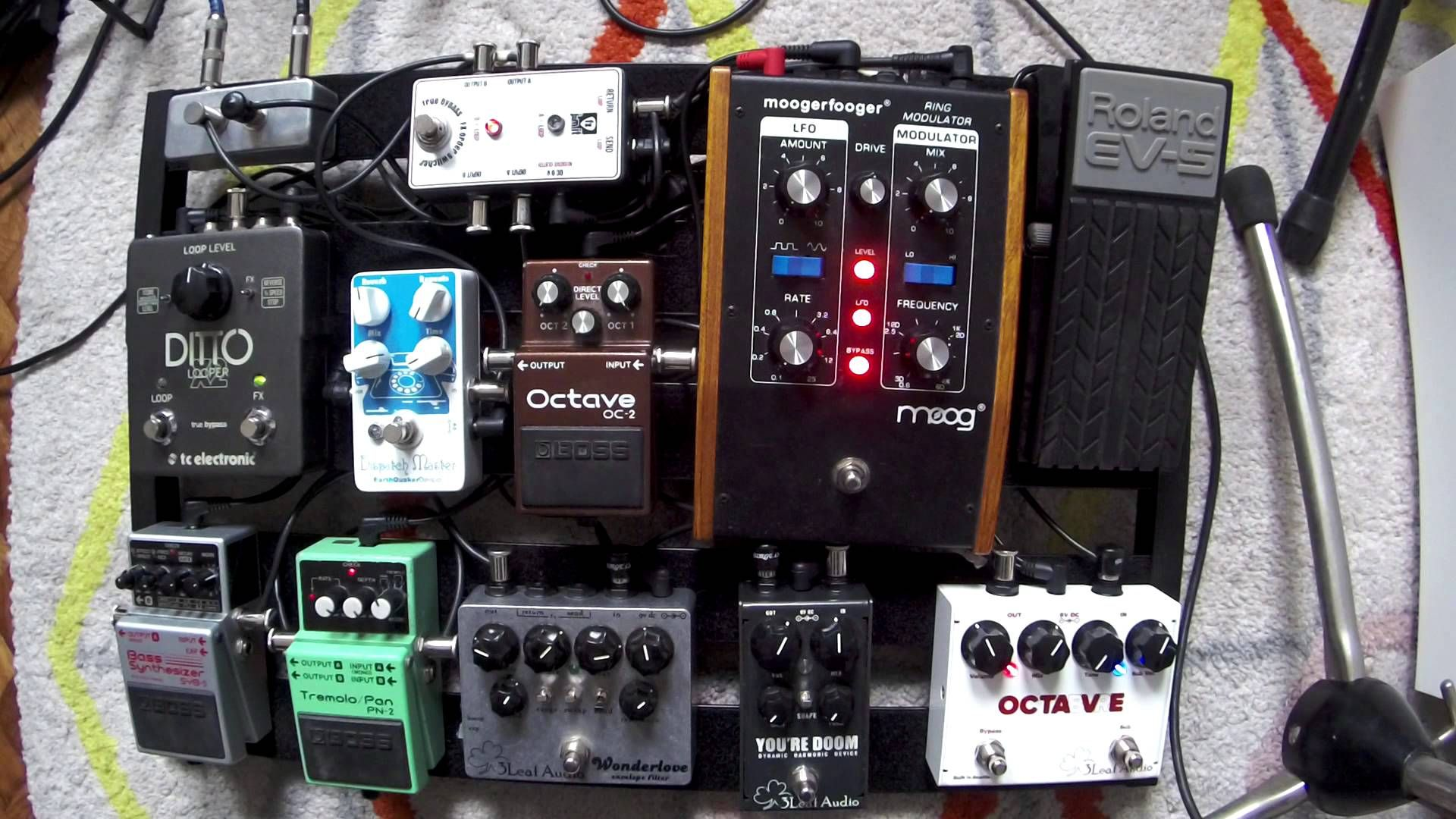My pedalboard for bass guitar