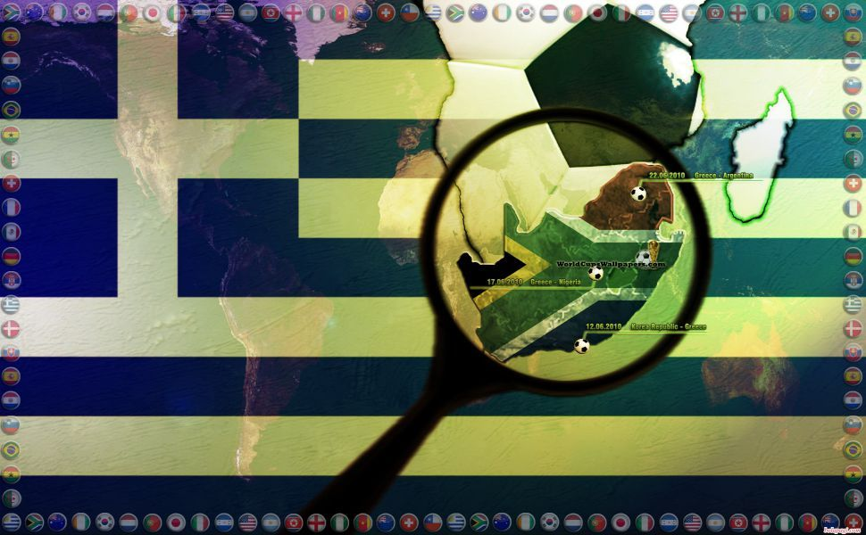 Download Greece World Cup 2010 1920x1200 HD Wallpaper