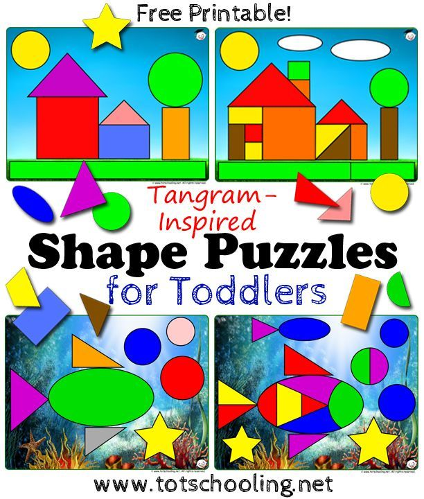 Tangram Shape Puzzles for Toddlers | Pinterest | Toddler learning ...