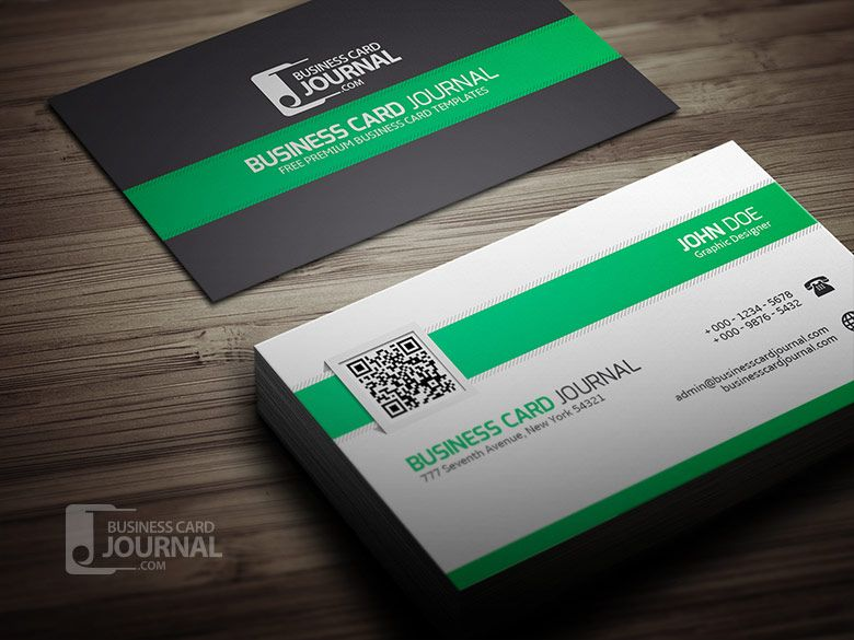 Clean stylish qr code business card template grafik pinterest clean stylish qr code business card template reheart Images
