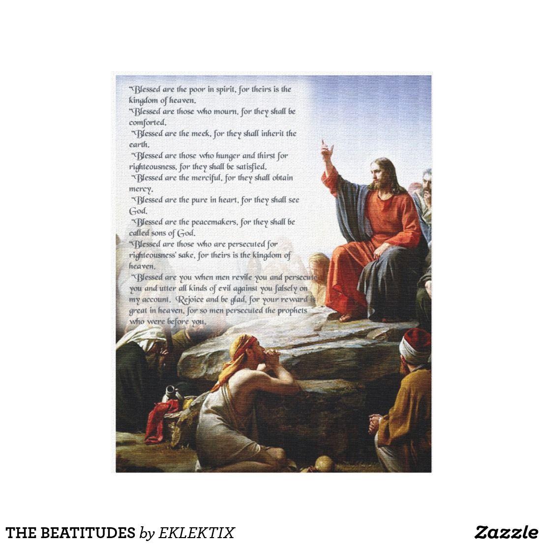 The Beatitudes Canvas Print
