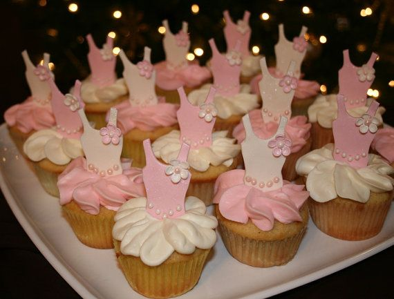 Birthday Cupcake Toppers Tutu Cupcake Toppers Ballerina Theme Ballerina Party Decor Ballerina Cupcake Toppers Ballerina Birthday