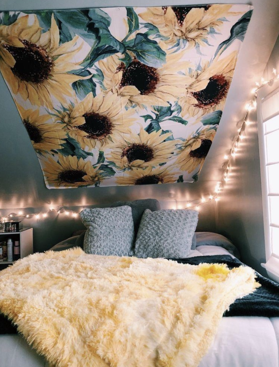 Sunflowers Tapestry Houses In 2019 Room Decor Dream Rooms