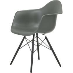 Armchairs Eames Plastic Armchair Daw With Felt Glides In Basalt Maple Lacquered New Vitravitra Dimensions Armchairs B In 2020 Eames Armchair Furniture Makeover