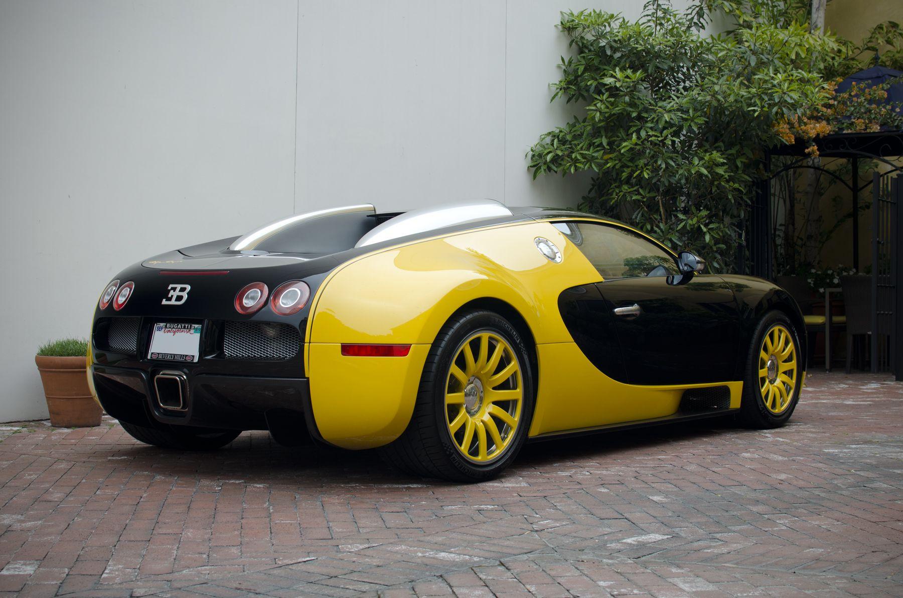 Bugatti Veyron Black And Yellow The famous bijan black/yellow ...