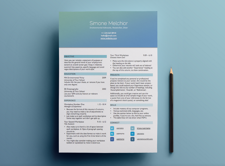 Make A Resume Online Free Download Adorable Here's A Beautiful Less Graphically Intense Header Option .