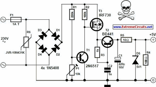 3aa6f0c2128965d3b97d34f93c035dbe transformer less 5 volt power supply circuit project hubby transformer circuit diagram at webbmarketing.co