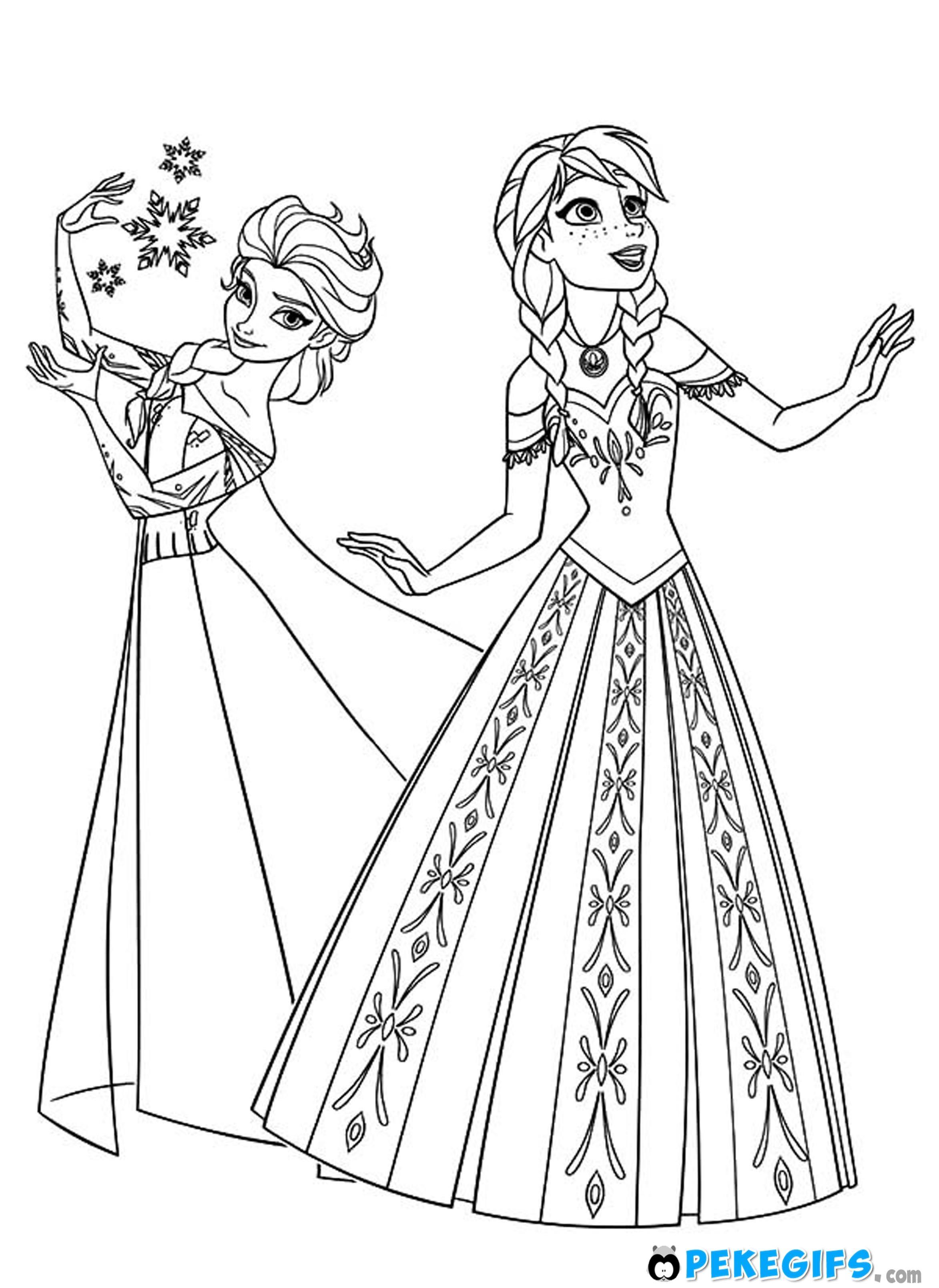 Dibujo colorear Frozen 18 | Anna of frozen