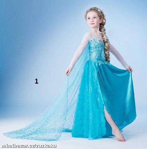 bc0a1cfdc938 Kostým Šaty Elsa Frozen 8 druhů