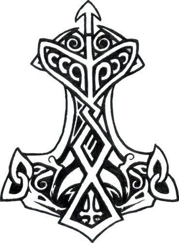 Amazon com Thor s Hammer Rune Vinyl Decal Viking Bumper Sticker