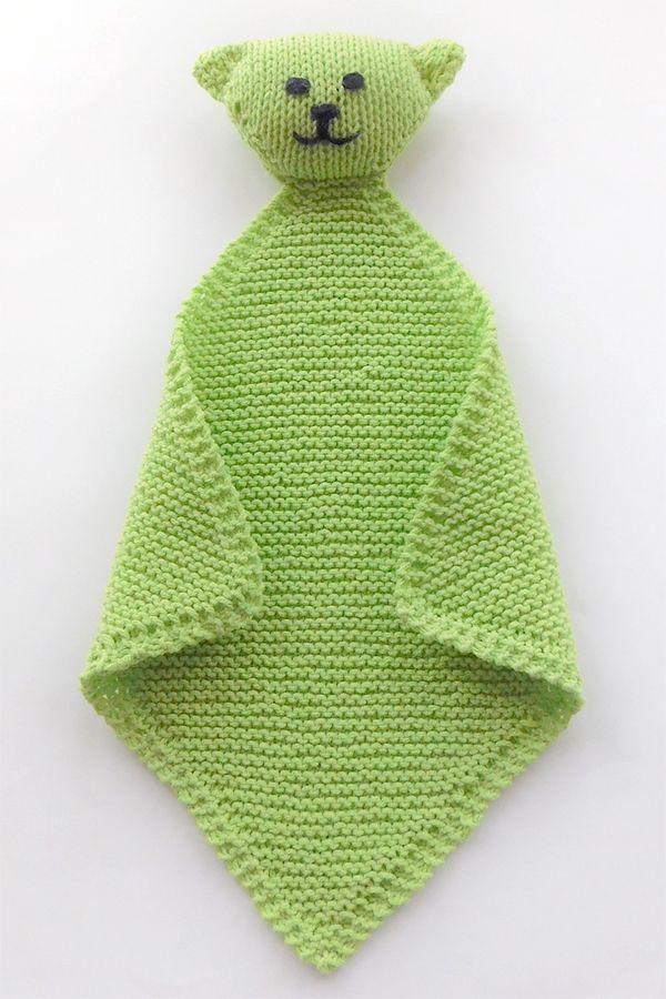 Free Knitting Pattern for Levi the Super Easy Lovie ...