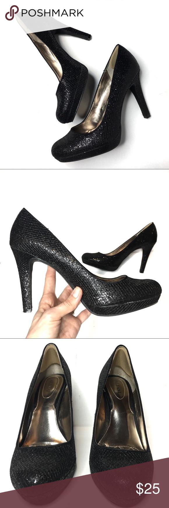 alfani black heels