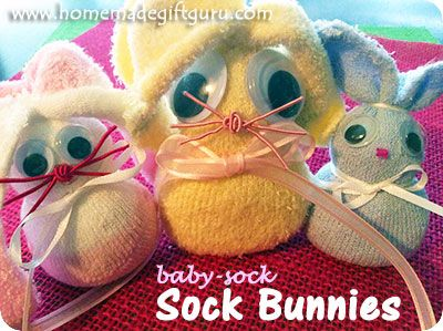 Sock bunnies from baby socks make fun little easter gifts gift sock bunnies from baby socks make fun little easter gifts negle Image collections