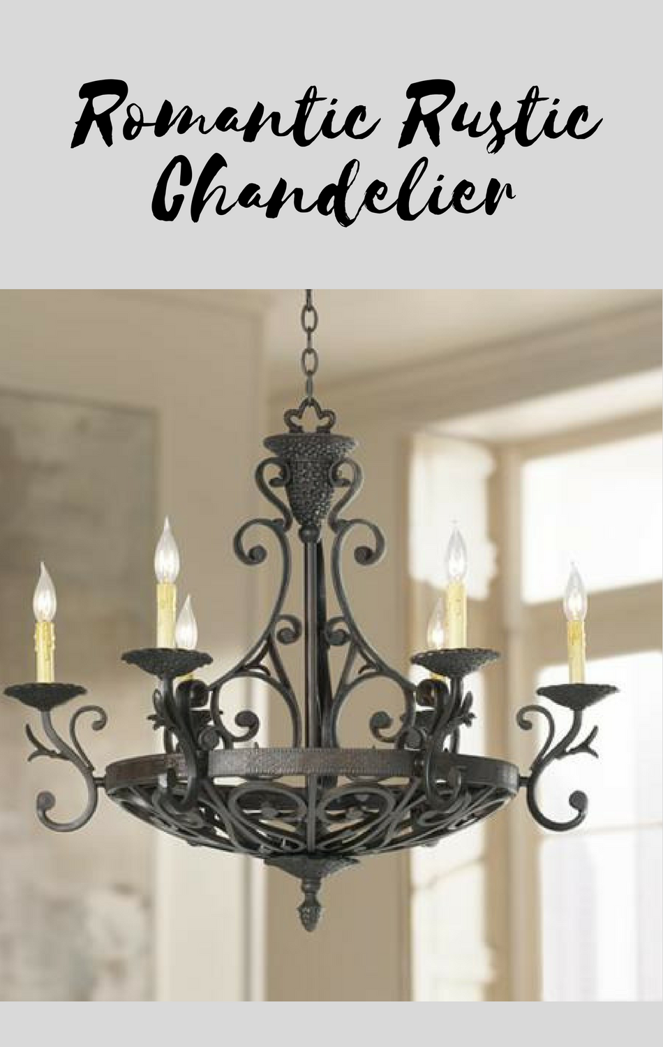 This Large Candle Chandelier Makes A Charming Focal Point For Kitchens