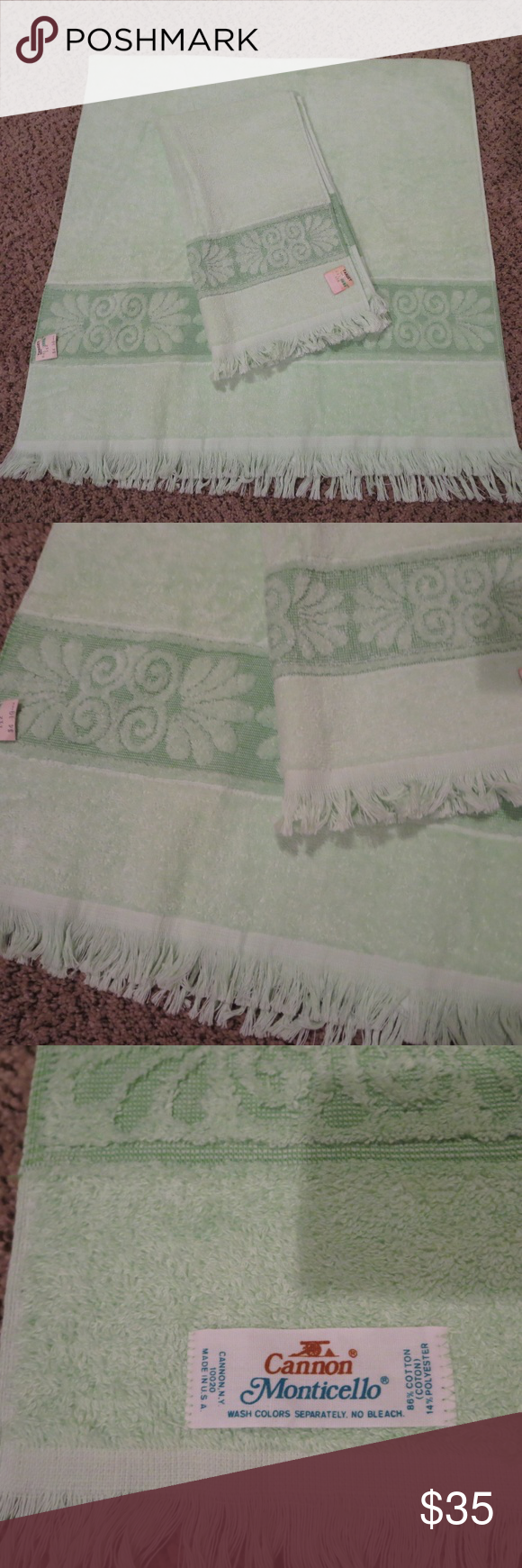 Vintage Cannon Monticello 70 S Bath Towel Set Nwt With Images