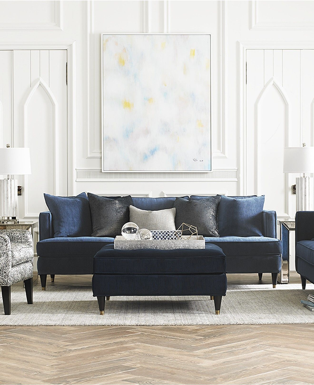 glam sofa set good quality cushions suzette collection furniture macy s ideas for the