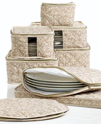 Fine China Storage Set, 8 Piece Hudson Damask #setinstains