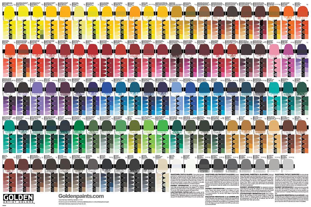 golden heavy body acrylics color chart paint color chart