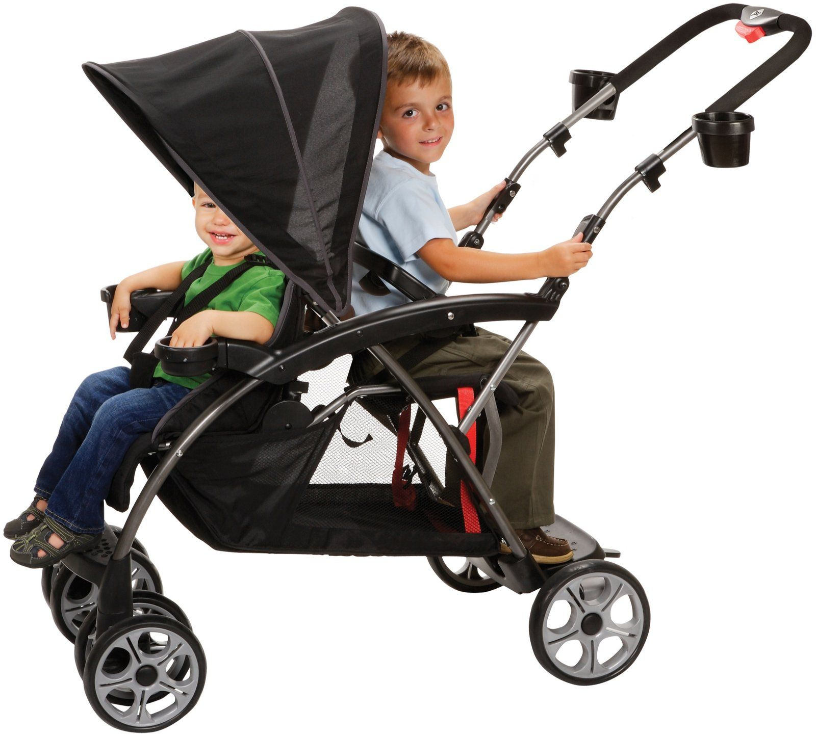 Safety 1st Sit And Stand Double Stroller Classic Black Carriolas Coches Para Bebes Coche Nino