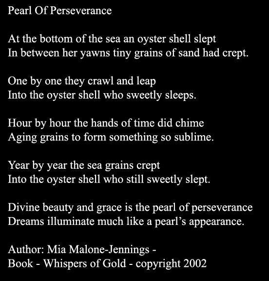 Pearl of Perseverance #words #inspiration #poetry #perseverance ...
