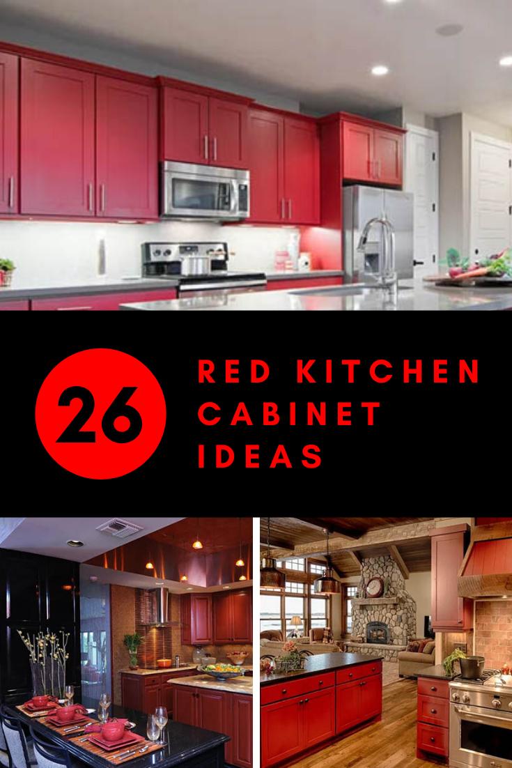 26 Red Kitchen Cabinet Ideas In 2020 Red Kitchen Barn Red Kitchen Red Kitchen Cabinets