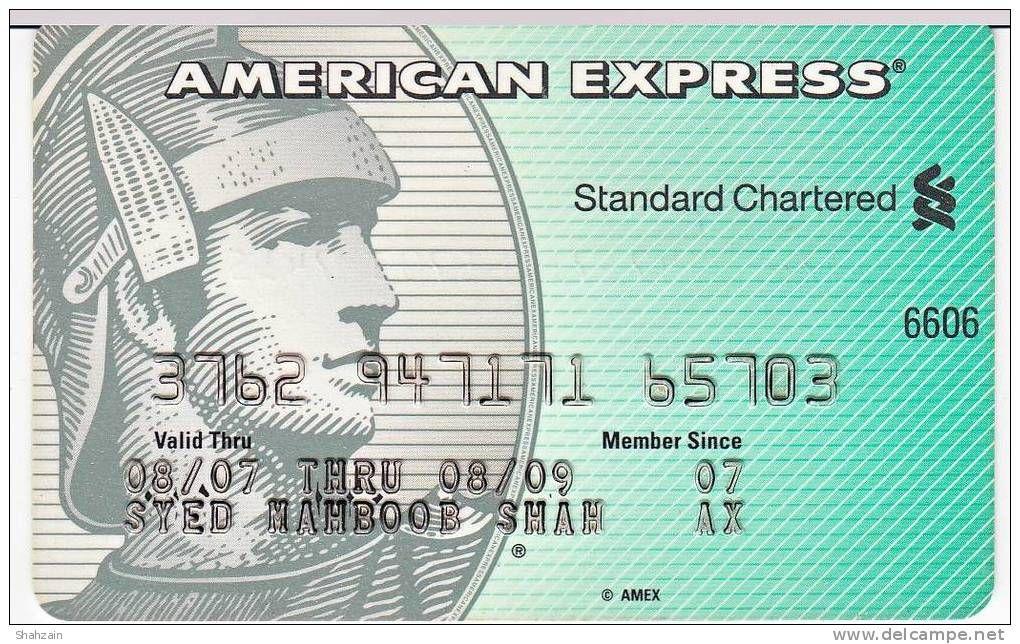 American Express Credit Card 11 Pakistan (Artikelnummer: #1621187538 ...