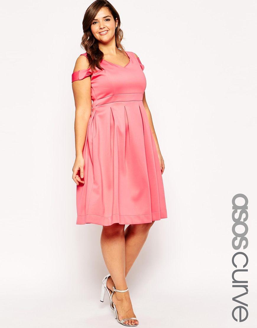 ASOS CURVE Cross Over Debutante Midi Dress | Plus Size Fashion for ...