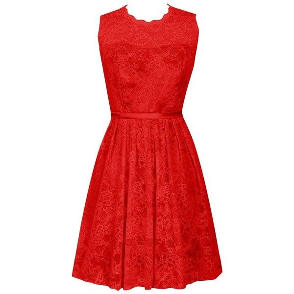 Dresstells Women's Scoop Lace Bridesmaid Dress Short Homecoming Party... (€86) ❤ liked on Polyvore featuring dresses, red lace dress, short red cocktail dress, short homecoming dresses, short lace dress and lace bridesmaid dresses
