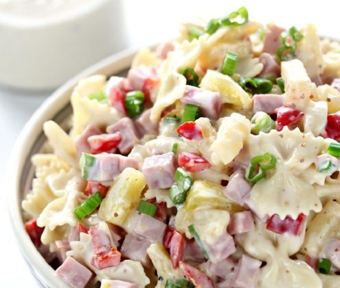 Hawaiian Pasta Salad - We compiled a list of 67 of the best pasta salad recipes around the web.   Savorystyle.com
