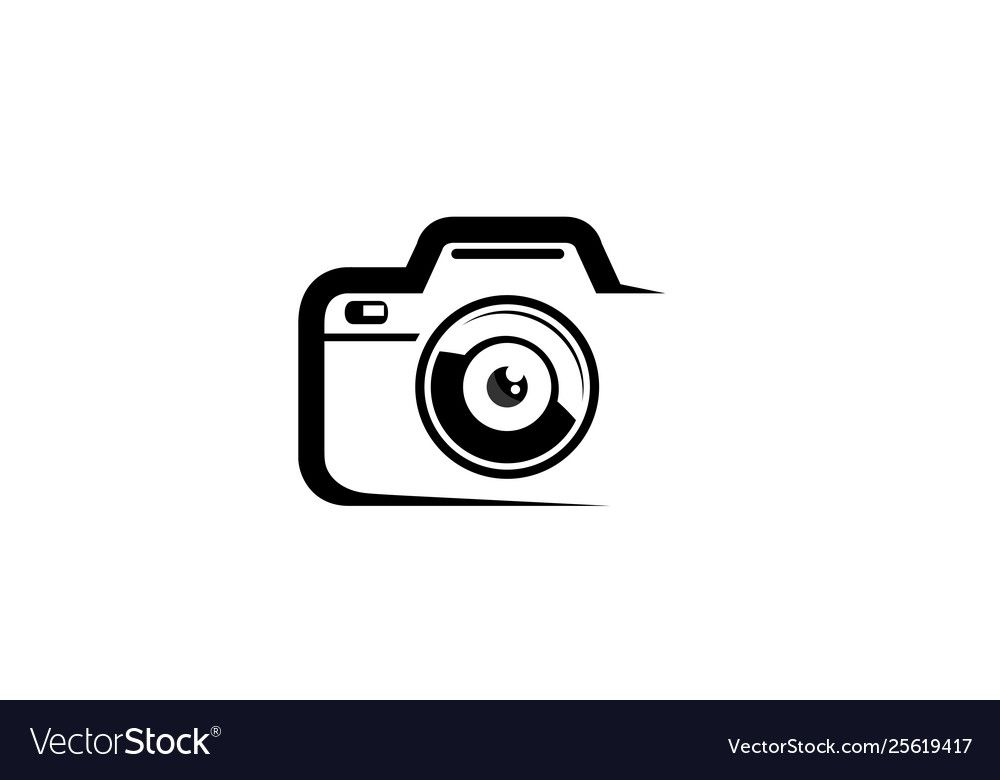 Creative Black Abstract Camera Logo Design Symbol Vector Illustration Download A Free Preview Or High Qualit In 2020 Camera Logos Design Camera Logo Photo Logo Design
