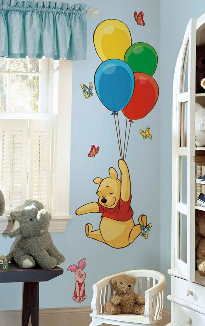 kinderzimmer deko ideen lieblingshelden hellblaue wand lustig - deko kinderzimmer