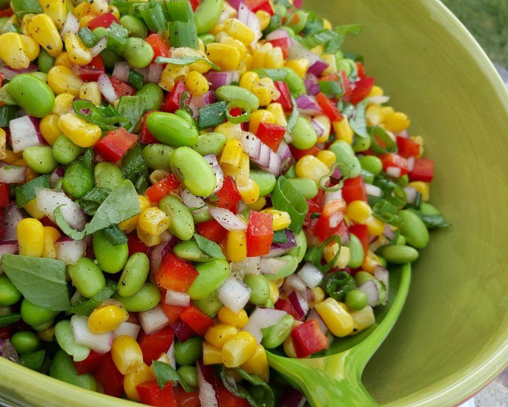 Edamame Summer Bbq Salad Recipe Edamame Salad Bbq Salads