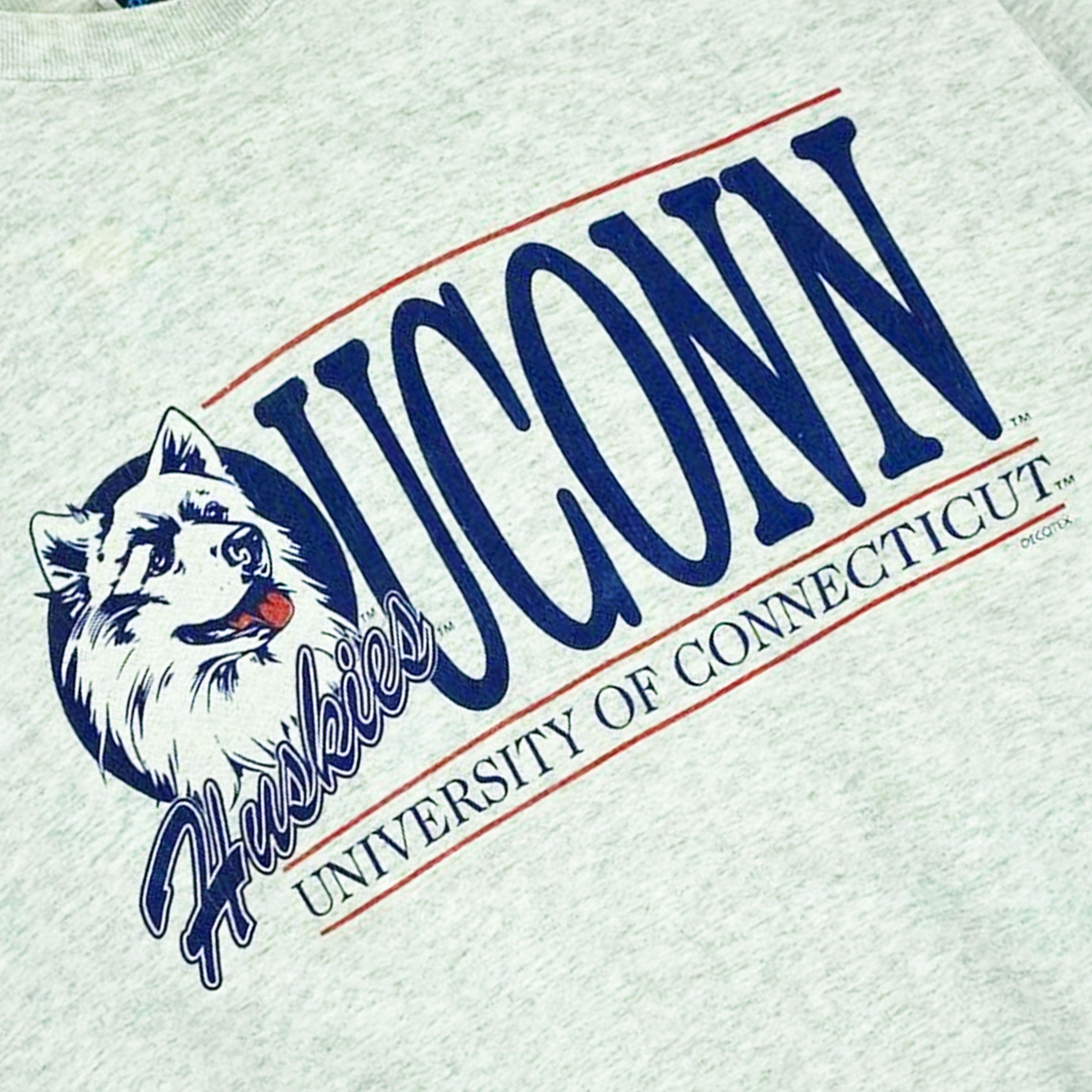 Firstport Vintage - UCONN Huskies | Graphic design logo ...