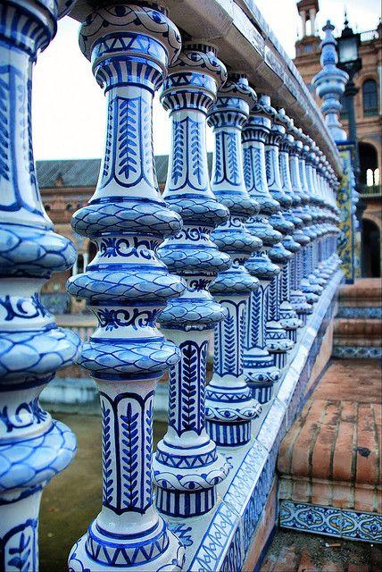 Sevilla Plaza De Espana Detalle De La Ceramica De Triana Spain Sevilla Seville Spain