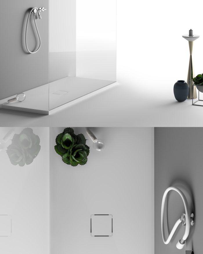 Preview Salone del Bagno 2018 Piatto doccia in Corian su misura ...